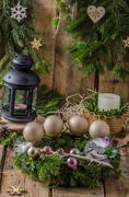 Christmas advent wreath Stock Photos