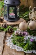 Christmas advent wreath - stock photo