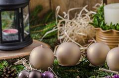 Christmas advent wreath - stock photo