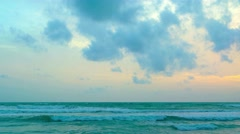 Small, gentle waves on the beach. Stock Footage