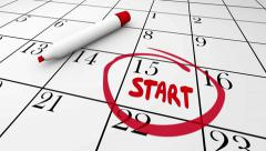 Start Word Written Calendar Date Day Circled Stock Footage