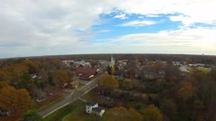 Aerial view over white rose city of york south carolina Stock Footage
