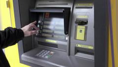 Atm machine, capital controls Greece,empty on cash,transaction rejected Stock Footage