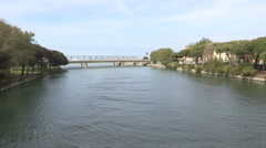 The mouth of the river Entella Stock Footage