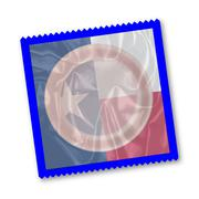 Texas State Flag Condom - stock illustration