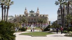Monaco - Montecarlo. Casinò in daytime - stock footage