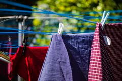 Laundry on washing line - stock photo