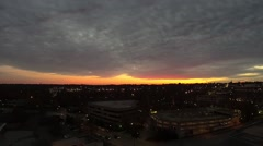 Aerial evening sunset over greenville south carolina Stock Footage