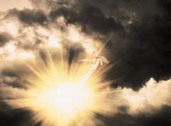 Angel in the Dark Sky - stock illustration
