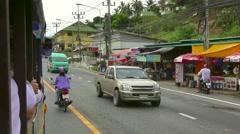Street of Phuket Town Stock Footage