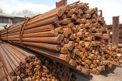 Stack of rods or bars Stock Photos