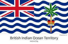 Stock Illustration of National flag of British Indian Ocean Territory with correct proportions