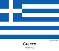 Stock Illustration of National flag of Greece with correct proportions, element, colors