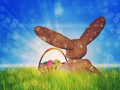 Easter toon bunny - stock illustration