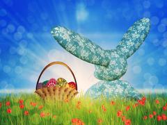 Easter toon bunny Stock Illustration