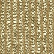 Golden draped curtains - stock illustration
