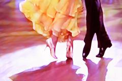 Ballroom dance floor abstract 5465 - stock photo