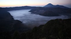 Stock Video Footage of Dawn in Bromo