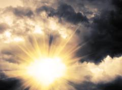 Stock Illustration of Light through Dramatic Sky