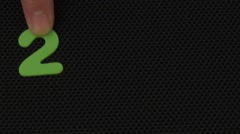 Happy New Year represents year 2016 - stock footage