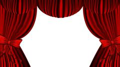 Stock Illustration of Red Curtain