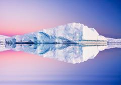 Antarctic Glacier in snow - stock photo