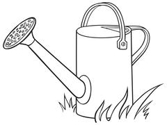 Watering can for the garden. - stock illustration
