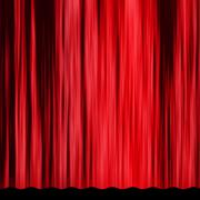 Vintage red curtain - stock illustration