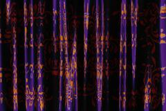 Violet curtains Stock Illustration