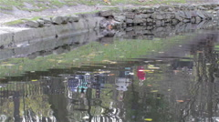 People reflection on water Stock Footage