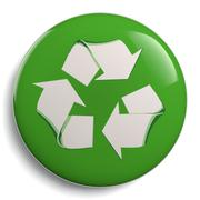 Stock Illustration of Recycling Green Symbol Isolated on White