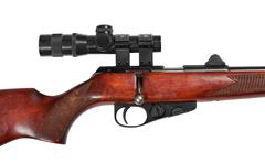Middle part of a hunting small-bore rifle Stock Photos