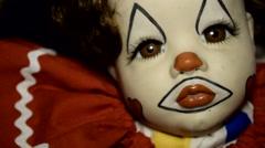 Haunted House Scary horror asylum Clown DOLL 2 - stock footage