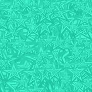 Turquoise seamless star pattern background Stock Illustration