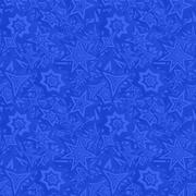 Blue seamless star pattern background - stock illustration