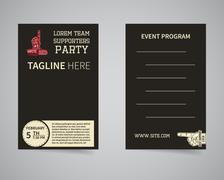 American football back and front supporters party flyer template design. Usa - stock illustration