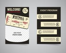 American football week end game back and front flyer template design. Usa Sport - stock illustration
