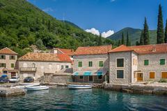 Old Montenegrian fisherman's village - stock photo