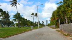 C Haulover beach walk. Stock Footage