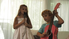 Kids Singing Stock Footage