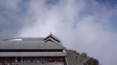 Silver temple next to the golden Bodhisattva in emei mountain,sichuan,china Stock Footage