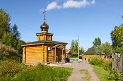 Chapel and source of St. Reverend Ilya Muromets in Karacharovo near Murom - stock photo
