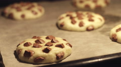 Time lapse - Chocolate Cookies Baking in the Oven Stock Footage