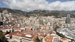 Monaco - Montecarlo. The city as seen from the Royal Palace Stock Footage