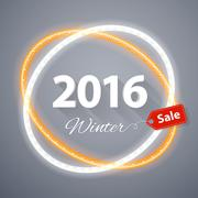 Winter 2016 Sale Poster - stock illustration