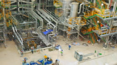 Industrial petroleum and refinery plant in construction phase - stock footage