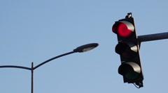 Traffic light signalization Stock Footage