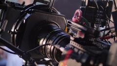 Proffesional film/cinema camera - stock footage