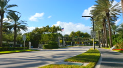 Bal Harbour streetview Stock Footage