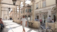 People walking  in Ascoli Piceno - Italy Stock Footage